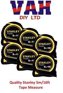 6 x Stanley 5m Tylon Tape Measure 5m 5 Metre 16ft 16 Feet STA130696