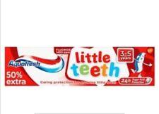 3 Pack Of Aquafresh Little Teeth Toothpaste 75ml 50% Extra