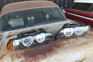 2001-2003 BMW E39 Xenon Headlight 2 pieces Hella Amber Turn Signal New Adjusters