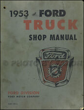 Best ORIGINAL Shop Manual for 1953 Ford Truck Pickup and Big Truck OEM Book