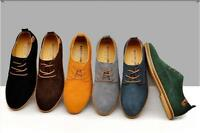 New Fashion Men's Oxfords Casual Shoes Suede European Style Leather Shoes