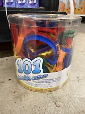Plastic Cookie Cutters 101/Pkg Assorted Shapes, Numbers & Letters 070896230508