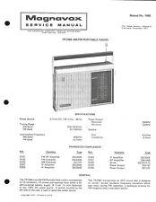 Magnavox AM/FM Portable Radio 1R1264 Service Manual