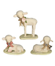 Bethany Lowe Designs: Easter; Precious Lamb 3 Assorted