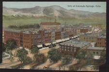 Postcard COLORADO SPRINGS CO Aerial View  of City 1907?