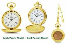 Bronze Modern Pocket Watches with Roman Numerals