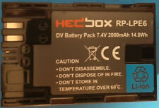 Hedbox HB-RP-LPE6 (HBRPLPE6) LPE6 14.8Wh 2000mAh DV Battery Pack for Canon
