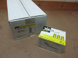 Ideal 30-074 Twist On Wire Nuts / Connectors 74B Yellow (Case of 1000)