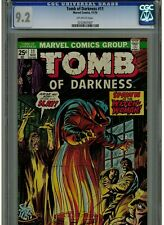TOMB OF DARKNESS 11 CGC NEAR MINT - 1974 OFF WHITE PAGES MARVEL COMICS BLUE LAB.