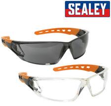 Pack Doble Sealey Policarbonato Gafas Seguridad Transparente + Oscuro Tintado -