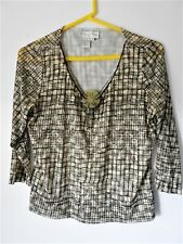 DONCASTER  Women's Pullover Top With Pendent - Sz Lge