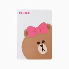 Korea LINE Friends CHOCO NoteBook Large BROWN Sister Character Desktop Kids Gift