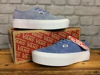VANS LADIES AUTHENTIC BLUE SUEDE PLATFORM 2.0 TRAINERS VARIOUS SIZES CHILDRENS