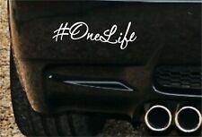 #OneLife Van Vita Divertente Auto Van Paraurti Finestra Adesivo Camper Surf VW Dub Insta