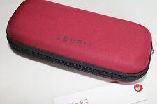 ESPRIT 2 x Taschenschirm rot Esbrella kleiner flacher Regenschirm Doppelpack