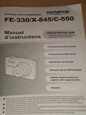 Manual D' Instr. Olympus Instruction Manual / Quick Start Guide Booklet