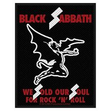 Écusson Vêtement À Coudre Black Sabbath We Sold Our Soul For Rock 'N' Roll (ro)