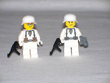 Lego 2 Minifig WW2 German Winter Troops with weapons
