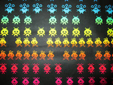 Space Invaders Pac Man Video Nintendo Games Cottton Fabric BTHY