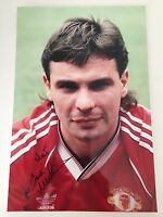 RARE Brian McClair Manchester United Signed Photo + COA AUTOGRAPH MAN UTD