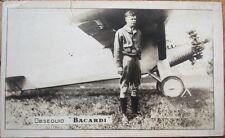 Charles Lindbergh in Cuba - 1928 Photograph w/Bacardi Advertising-Cuban Aviation
