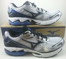 Mizuno Wave Inspire 8 Mens Size 8.5 Running Shoes 8KN-24227 White Black Blue NIB