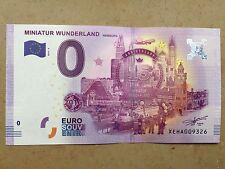 0 Euro Schein Souvenir Souvenirschein 2016-2 Miniatur Wunderland Hamburg NEU