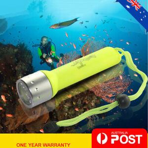 Pro 180LM Waterproof LED Diving Flashlight Torch Underwater Lamp Light
