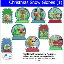 Machine Embroidery Designs - Christmas Snow Globes (1) - 9  designs - 9 Formats