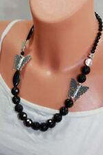 Collane e pendagli di bigiotteria collier nero di vetro