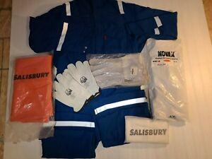 New Nomex Electrical Arc Flash Electrician Suit Cut Resistant Gloves PPE Gear