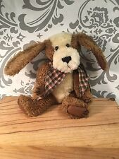 "NWT Boyd's Bears ""Klancy"" Retired Jointed Stuffed Dog Plush Stocking Stuffer 393"