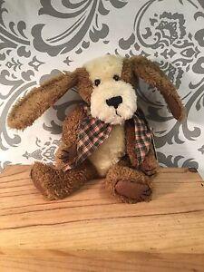 "NWT Boyd's Bears ""Klancy"" Retired Jointed Stuffed Dog Plush Stocking Stuffer 393"