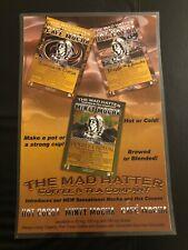 MAD HATTER Poster Cannabis Marijuana Coffees & Teas 420 Weed Alice in Wonderland