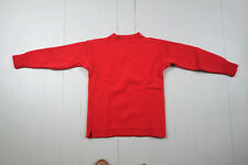 Le Tricoteur Guernsey wool fisherman's jersey jumper XS 34-36 RED