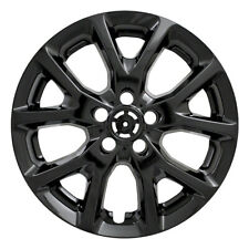 """One Wheel Skin Cover Fits 2014-2017 Jeep Cherokee 17"""" Gloss Black 10 Vent"""