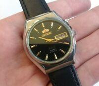 Vintage Orient crystal 3 stars automatic watch men 21 jewels 469 (original)