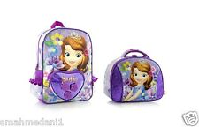 """NWT Disney Sofia the First 15"""" Backpack + Insulated Lunch Bag Premium Design Ruc"""
