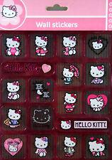 Hello Kitty Wandsticker, Wandtattoo, Metallic Wall Sticker, 18 Teilig, auf 23...