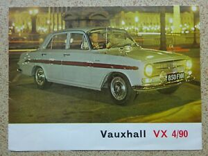 VAUXHALL - VX 4/90 - ORIGINAL SALES BROCHURE from 1962 ...SEE PHOTOS.