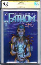 Fathom #7 CGC 9.6 SS Michael Turner Cover RARE HTF