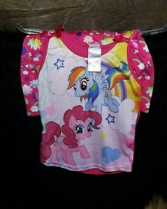 new My Little Pony 2 piece shorts PJ set Pajamas Girls lg 10/12 Rainbow Dash