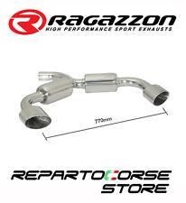 RAGAZZON SCARICO SDOPPIATO TERMINALI OVALI 2 135X90 VW GOLF VI 6 2.0GTD 170CV
