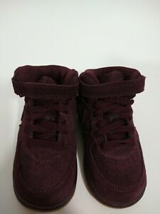 Nike Air Force 1 Mid LV8 Boys 6c Burgundy Crush Toddler Sneakers Shoes Gum