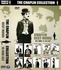 Charlie Chaplin 10 DVD Boxset - Paris Modern Verdoux Circus Rush Limelight (NEW)