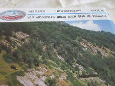Alpenbahnen Westalpen K 14 Lötschbergbahn Ausserberg Rhônetal Brig