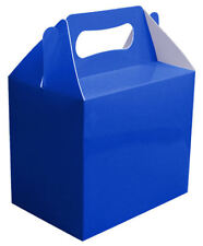 6 Royal Blue Party Boxes - Food Loot Lunch Cardboard Gift Wedding/Kids