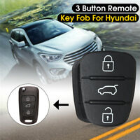 2x Remote Flip Key Fob Case Shell Rubber Pad Replacement For Hyundai I10 I20 I30