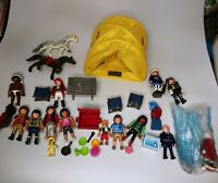 Playmobil Mixed Figure Camping,Accesories,Horses and Friends Lot