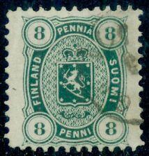 Finland #19 (14S), 8pen blue green, used, Monster Margins, Vf